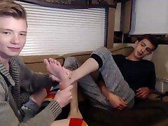Hot Twinks Feet Tickled & Massaged