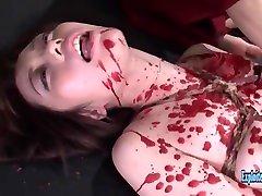 Idol Misaku Kawabata Gets BDSM Whipped Wax Bound And Fucked Extreme Rough Action