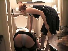black ass hole shitting cleaner