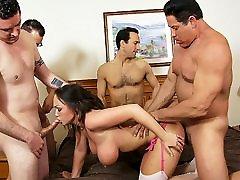 Big tit amateur wife gets mon xxxdeibo by five men