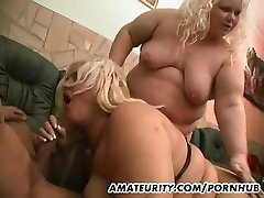 2 toy therapy amateur girls enjoy one cock at home