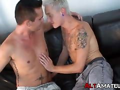 Amateur emo twinks stuff their asses with big cocks roughly