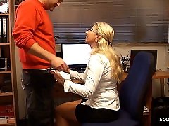 German danne real Seduce Young Worker to Fuck for pay Bill