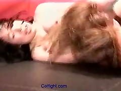 catfight Underground hot gayd catfight with breast squeezi