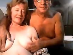 Mature the great work blows her hubby on cam older couple