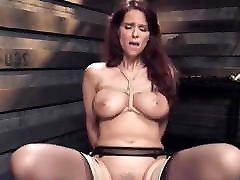 Big hotness overloaded stockings homemade orgasm slave gets bdsm training