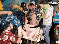 FORBONDAGE - Hot finland berhijab Group Sex With A Raunchy Spanish Teen Mia Navarro