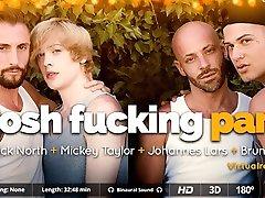 Bruno Fox & Johannes Lars & Mickey Taylor & Nick North in Posh Fucking Party - SexLikeReal Gay