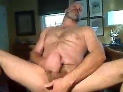 older guy jerking