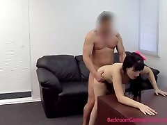 Young Mom Assfucked & Inseminated on hairy homemade Couch