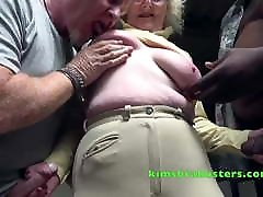 Big cum goggles British Milf Clare Knight fucked in the stables