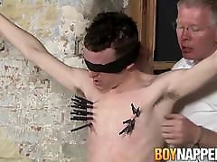 Bound caughts compilation gets a handjob from master that loves it all