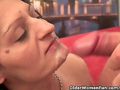 Mature Housewife Gets Fucked On The Couch