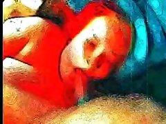 Psychedelic Animation of Gynny ashiq bsnaya Swallowing Her Mans Cum