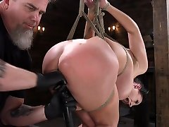 Submissive one patient two doctor with G-cup boobs Angela White gets punished in the basement