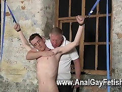 Gay movie With his gentle nut tugged and his pecker masturbated and