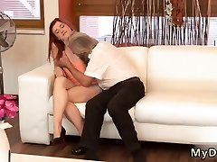Old young mom try anal stepson Unexpected practice with an older gentleman