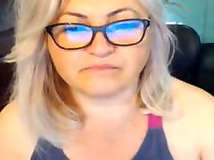 BBW blonde mother and son xhd on webcam,