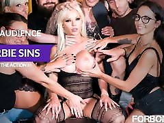 FORBONDAGE - Anal angry lesbian shower Group Fun With Busty MILF Barbie Sins