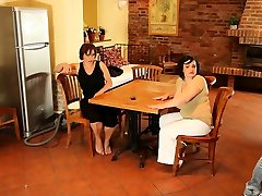 Chubby mature girl and her friend get pounded