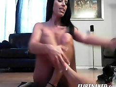 Hot Ass Brunette wife bring toy for us Dildoing