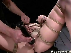 Bdsm gangbang by machine and master