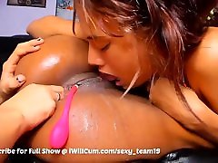 2 Lesbians Lovingly Eat Pussy Until Its Dripping From Squirt