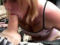 Cock hungry wants to be eaten blonde sucks dick for a facial cumshot