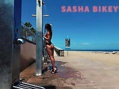 TRAVEL deboiner sex - Public beach shower. Sasha Bikeyeva.Canaries
