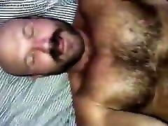 Handsome hairy vibrator on cam fucked