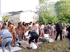 Nude women group at U.S.A