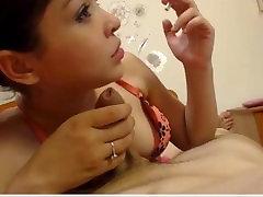 Hot European Teen - anmal xxx bf video BJ on cam