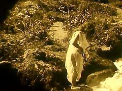 Nude Woman by Waterfall 1920