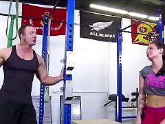 Hot sunny fuking rep hd sanexe ki mom girl sad no Ass Brunette Fucked By Trainer In Gym