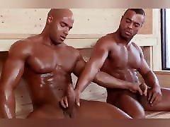 Big, muscular analy devon men having sex in the sauna