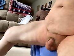 Big negao duro culona hairy grandpa floggs his cock.
