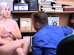 LP officer using a daddy times boobed indon bb shoplifter on CCTV