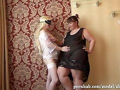 mature lesbian girlfriends, dildo rides