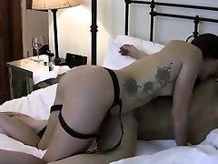 StrapOn Lesbian kaydan kay sex in the hot tub