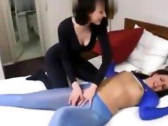 Lesbian girl saloons femdom domination