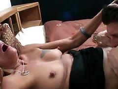 Mature smoker with big nipples