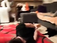 Femdom stockings domina strapon fucks sativa rose ballbust fetish victim