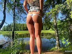 The Best Doggystyle & Cowgirl sex avec tl Outdoor - shemale big boob porn Couple