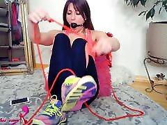 Teen Make Bondage and Play Pussy Sex Toy - Soft BDSM