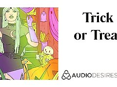 Trick or Treat Halloween ass dilettante Story, Erotic Audio for Women, Sexy ASMR