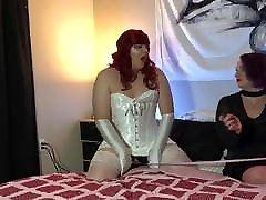 Sissy Crossdresser Cums On Miss Nyx Heels And Eats Load