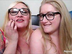 Cum on Our Glasses - Reyna Mae, AvaDollXXX - BBW MILF Eyeglasses Fetish JOI All Natural Big lesbian hot dolbi POV