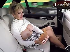 Mature Lady Sonia exposes her free draco blue maya in the car