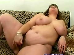 Hot Fat BBW fuck friend loves to play with pussy after work
