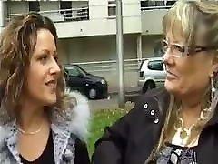 Hoy seachmade white mature Brigitte and her niece Maria fucked by blacks